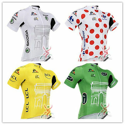 2015 Tour DE France champion leader Short Sleeve sports jersey cycling clothing