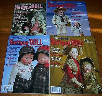 4 Antique Doll Collector Magazines From 2016  - As New