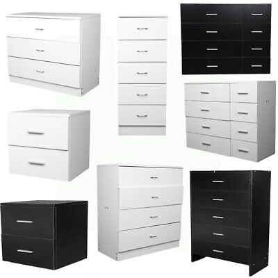 Chest of 2/3/4/5/8 Drawers Bedroom Furniture Hallway Storage Boldon Range New UK