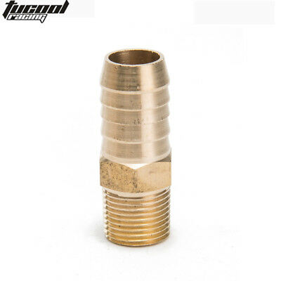 """Brass Barb Fitting Coupler 5/8"""" Hose ID x 3/8"""" Male NPT Fuel Gas Water"""