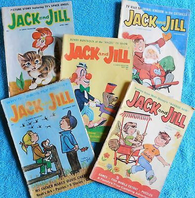 Lot of 5 Jack and Jill Magazines from 1963