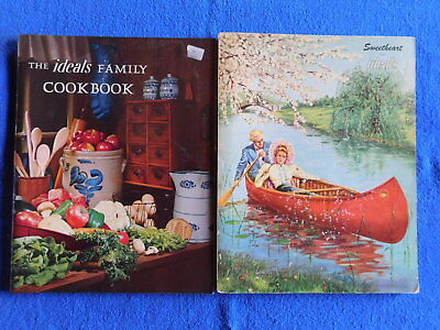 Lot of 2 Ideals: Sweetheart February 1954 & The Ideals Family Cookbook from 1972