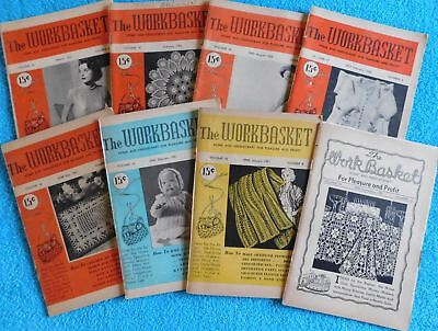 Lot of 8 The Workbasket Magazines from 1950, 1951, 1952 & 1953