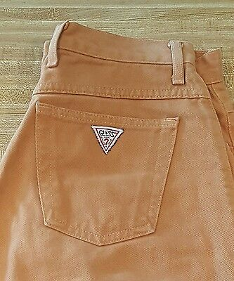 Guess Vintage Made in USA Tan/Peach Jeans Sz 31 #443