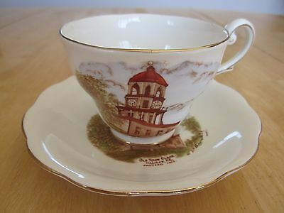 Royal Standard Teacup & Saucer - Featuring Old Town Clock Halifax, NS