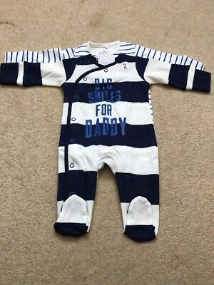 Next Baby Boys Sleepsuits 0-3 Months BNWT - Next Mummy Daddy Babygrows Outfit