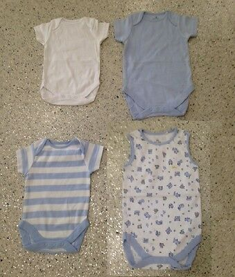 Next Baby Body Vest Baby Boys Blue All Sizes New