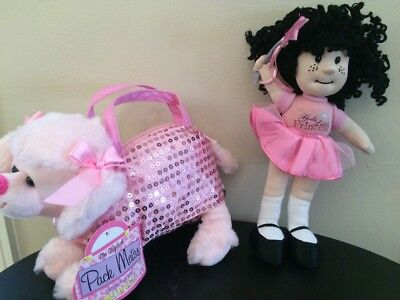 Girl's Plush Pink Poodle Purse And Doll