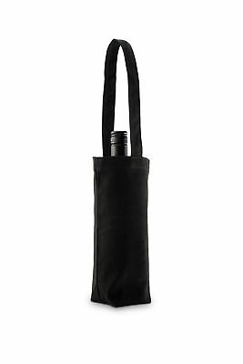 Black Canvas Wine Premium Tote Bag with Long Handles