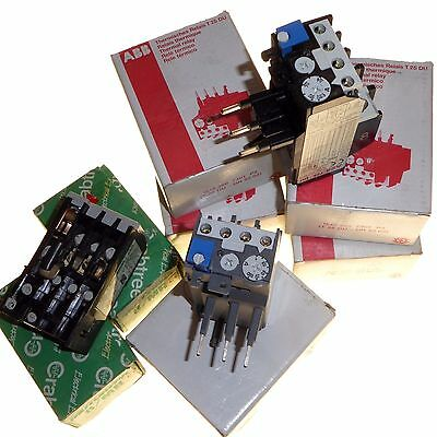 7 x New thermal overload relay attachments for contactors AB and Crabtree TA25