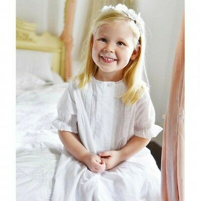 Matching Gift Box.100/% Cotton.White Powell Craft Girls Martha Nightdress