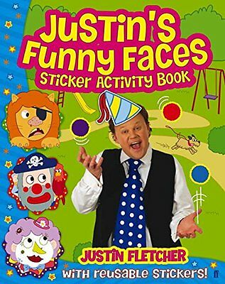Justin's Funny Faces Sticker Activity Book by Justin Fletcher-Paperback-CBEEBIES