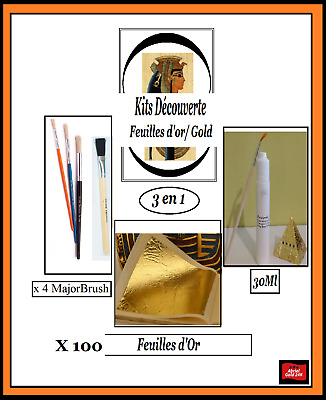 Discovery Kits Gold 50 Feuilles d'or Complet