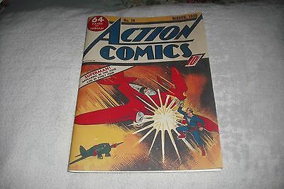 "Action   #-10 (1939),   Nice Complete  ""facsimile  Covers Only """