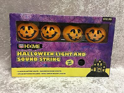 Battery-Powered Halloween Jack-O'Lantern String Lights with SOUND