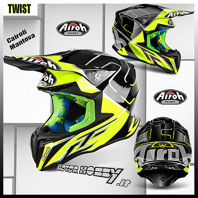 Helm Cross Enduro Motard Airoh Twist Tony Cairoli Mantova 2017 Größe M (57-58)