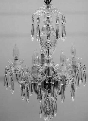 Vtg Waterford Crystal Chandelier 5Arms 40 Original New Prism N/Attached Included