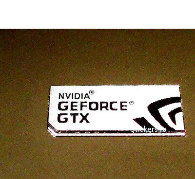 1x New NVIDIA GeForce GTX computer 7 sticker PC Genuine Desktop laptop Base