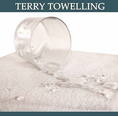 TERRY TOWEL WATERPROOF MATTRESS PROTECTOR Fitted Cover Bed SHEET 100 PACK SINGLE