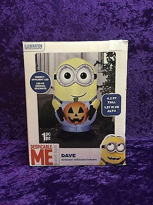 4.5' Airblown Inflatable Despicable Me Minions Dave LIGHTS UP Halloween