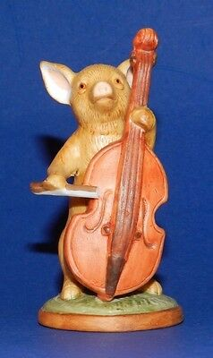 Vintage Enesco Porcelain Pig Figurine - Playing The Bass - 1979