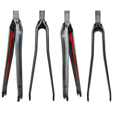 28.6mm Carbon Fiber Bicycle Front Fork Cycling Road Bike 700C Glossy/Matte 300mm