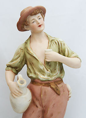 Royal Dux Bohemia Figure Young Man Drinking Wine Pink Triangle 2298