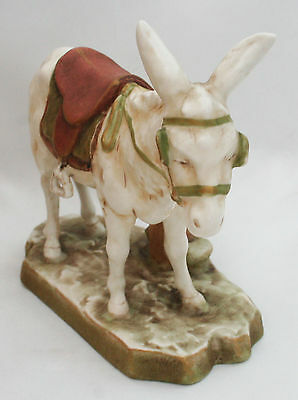 Royal Dux Bohemia Model Of A Donkey Pink Triangle 1112
