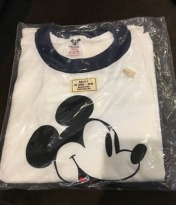 NIP Vtg 80s Mickey Mouse Disney T-Shirt, Adult sz. XL, Made USA - in orig pack!