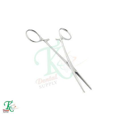 Dental Surgical Haemostatic Oral Surgery Locking Pliers Hemostat Pean Forcep14cm