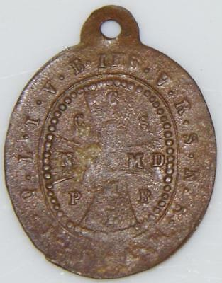 Medieval St. Benedict Shield Bronze Holy Medal c.1750 Patron Exorcism Protection