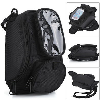 1x Waterproof Universal Magnetic Motorcycle Travel Oil Fuel Tank Bag Phone Pouch