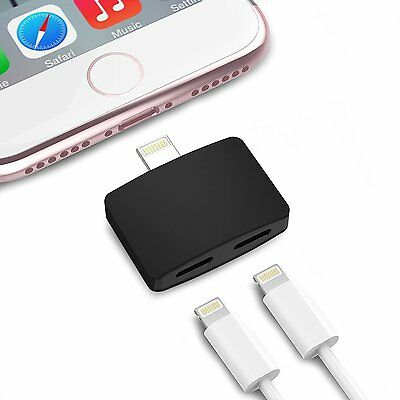 2 in 1 Lightning Adapter for Apple iPhone 7,7+  Headphone Audio & Charge Adapter