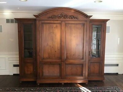 $12,000 Guy Chaddock French Country Custom Made Armoire Wardrobe Beveled Glass