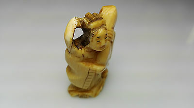 Ancient Netsuke Signed - Antico Firmato