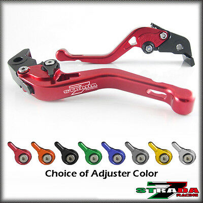 Strada 7 CNC Shorty Adjustable Levers Ducati ST2 1998 - 2003 Red