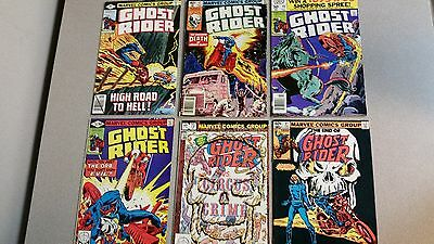 GHOST RIDER- SIX (6) BOOK LOT - 37, 42, 49, 54, 73, & 81 (Last Issue) - Marvel
