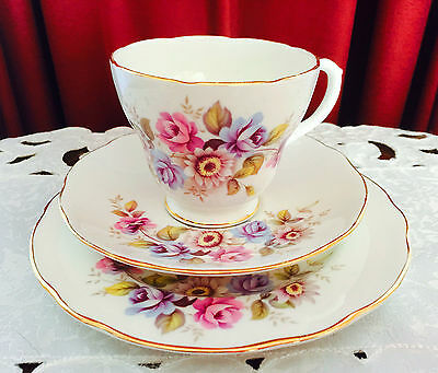 Vintage Duchess Bone China Made In England Pattern No 341 Trio C1960's