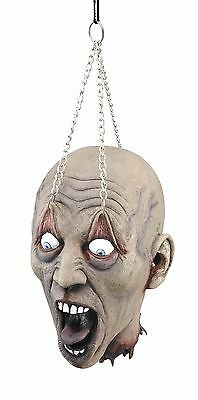 Wandbehang Dead Head mit Kette Requisite Offenes Ösen Halloween Party Dekoration