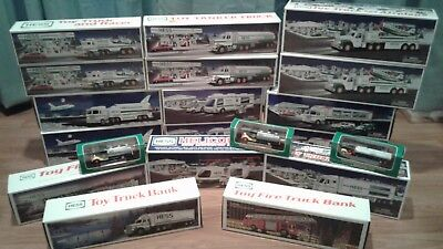 Hess Toy Truck Lot - 20 Pieces -NIB- 1986-2004
