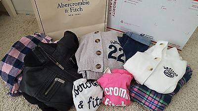 Abercrombie kids,Hollister,Tillys, Levi's,Girl's 8 Clothing Lots/10-12 EUC. WoW!