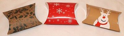 Brand New Christmas Pillow Gift Boxes * A Choice of Colours, Sizes & Quantities
