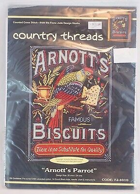 Arnotts Parrot Cross Stitch Kit Country Threads Fiona Jude Tapestry Kit EH