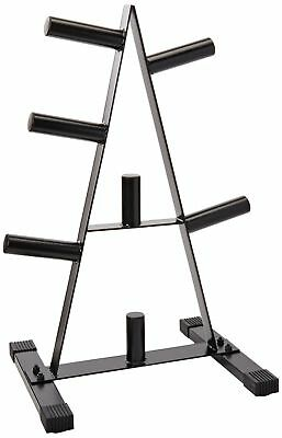 """Cap 2"""""""" Olympic 500 Lb Weight Plate Rack Stand Tree Holder Storage A Frame"""