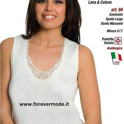 3 Tank tops woman Leable wide shoulder,cotton on leather wool out with lace art