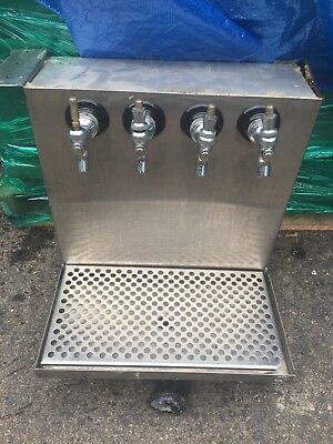 Draft Beer Tower System Bar Home Brewing Brew Keg Tap Faucet Wall 4 Unit