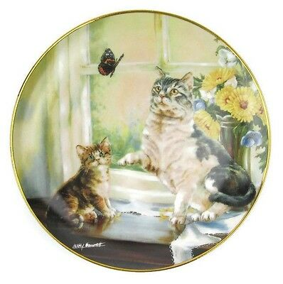 Cat Collector Plate Flight of Fancy Franklin Mint Limited Edition Signed 8""