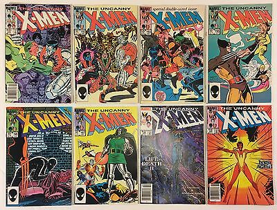 The Uncanny X-Men 191 192 193 195 196 197 198 199 Lot of 8 Marvel Comics 1985 VF