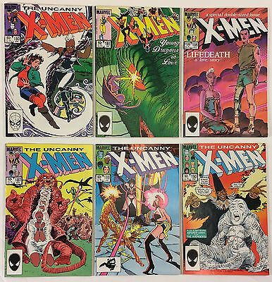 The Uncanny X-Men # 180 181 186 187 189 190 VF+ Lot of 6 Marvel Comics 1984-1985