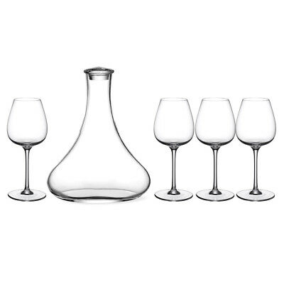 NEW V&B Purismo Red Wine Decanter and Goblet Set 5pce